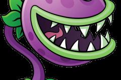 Dibujo-de-planta-carnivora-con-cuernos